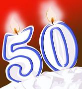 Поздравления с 50-летием женщине